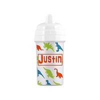 Personalized Dinosaur Pattern Sippy Cup