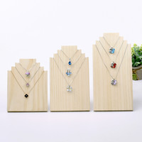 Wood Necklace Display Stand