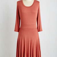 Mid-length Long Sleeve A-line Chic Comforts Dress