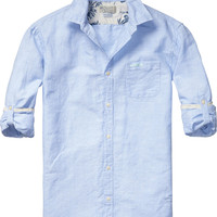 Linen shirt with roll-up sleeves - Scotch & Soda
