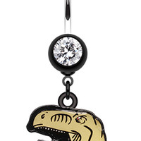 Ralph The Raptor Belly Button Ring