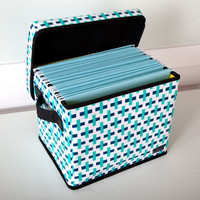Bungalow Hang-10 Storage Bin, Blue
