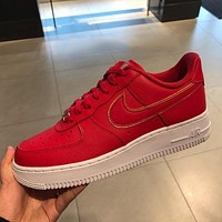 Nike Air Force 1 AF1 Trendy Flat Low-Top Sneakers Shoes