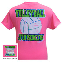 Girlie Girl Originals Volleyball Junkie Sports Bright T Shirt
