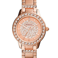 Fossil Ladies Jesse Rose Gold Tone Glitz Watch