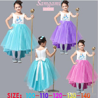 Best Selling Frozen clothes Romance elsa princess dress Elsa & Anna dresses Costume kids grils' party dresses elsa dress skirt dress.