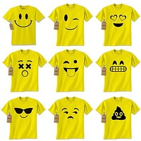 Womens Emoji Smile Face Emoticon T-shirt Collection Halloween Costume