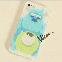 Monsters University Anime iPhone 5 case - Anime Mike Wazowski iPhone 4/4S/5/5S Case - Anime Sulley iPhone 5S Case
