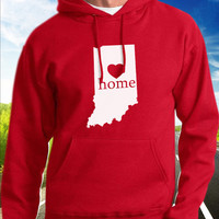 Indiana Home Hoodie - State Pride - Home - Clothing