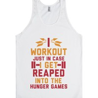 Workout Games-Unisex White Tank