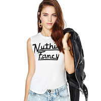 White Nuthin' Fancy Printed Tank Top