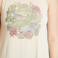What's in 'Saur Graphic Tank Top