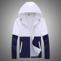 Trendy Jacket Women Windbreaker 2018 Autumn Women's Jacket Coat Hooded Female Jacket Fashion Men Ladies Thin Basic Jackets For Women AT_94_13