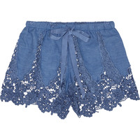 Miguelina - Gwen crocheted cotton-blend shorts