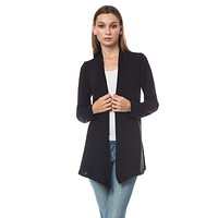 Long Sleeve Open Front Hi Low Shrug Cardigan (CLEARANCE)