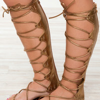 Just Stay Gladiator Sandals