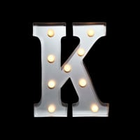 MARQUEE LIGHT LETTER 'K' LED METAL SIGN (10 INCH, BATTERY OPERATED)