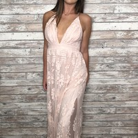 Homegrown Honey Dress- Blush