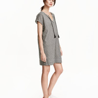 Patterned Cotton Dress - from H&M