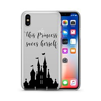 This Princess Saves Herself - Clear TPU - iPhone Case