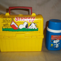 Vintage Snoopy Lunch Box with Thermos