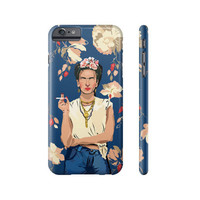 Frida kahlo Apple IPhone case 4 5 5c 6 6s Plus floral art artwork beautiful for her