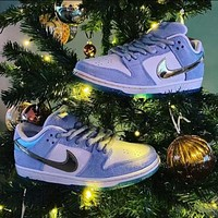 Nike Frozen Co-branded Hot Sale New SB Dunk Blue Valentine's Day Shoes, Wild Couple Casual Shoes, Women Men and Women