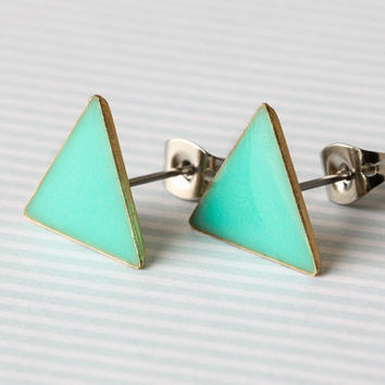 Mint Green Earring