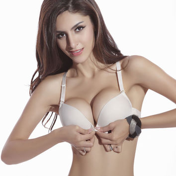 New Fashion Sexy Seamless Adjustable push up Bras Women Cotton Bra
