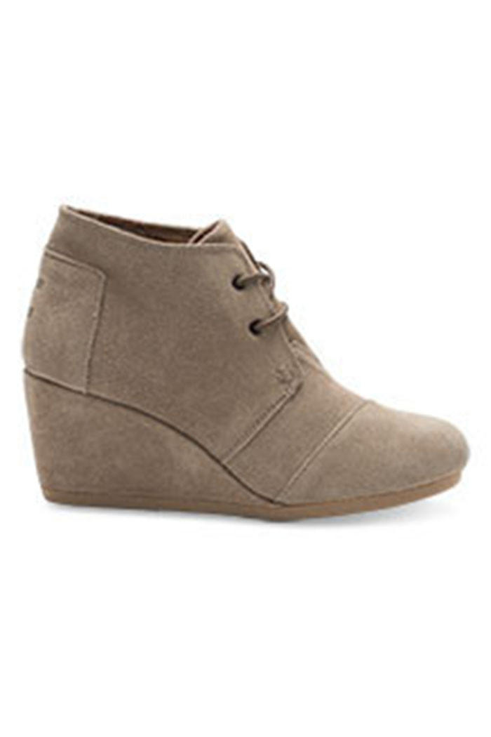 Image of TOMS Suede Women's Desert Wedge Shoes