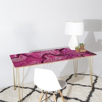 Lisa Argyropoulos Marbled Frenzy Glamour Pink Desk
