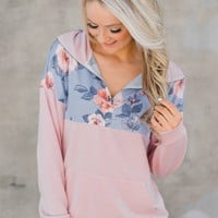 Spring Kissed Blush Floral Pullover