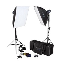 Photography Studio Kit Complete With Photo Lighting - Strobes - Stands