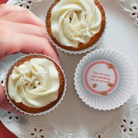 Fortune Cookie Cupcake Wrappers