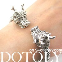 Dragon Animal Bangle Bracelet in Silver | Animal Jewelry