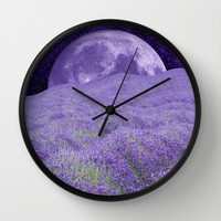 LAVENDER MOON Wall Clock by Catspaws