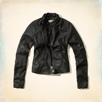 Surfer's Point Faux Leather Jacket