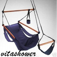 Amazon.com: Super Deluxe Navy Blue Sky Hanging Air Chair - Hammock Swing: Office Products
