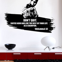 Vinyl Wall Decal Sticker Don't Quote Ali Quote #5437