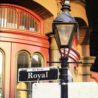 New Orleans Art Royal Street Sign Photograph 8x10 Print by Briole