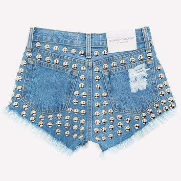 609 Stone Studded High Waist Dreamer Shorts
