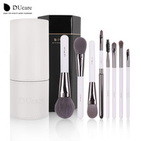 DUcare Makeup Brushes set Foundation eyeliner Eyebrow Lip Brush Tools cosmetics Kits make up kwasten Brush Set with White Holder