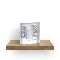 'She was beautiful - F Scott Fitzgerald' Acrylic Block by peggieprints