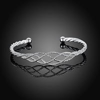 Silver Plated Intertwined Honeycomb Matrix Women's