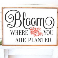 SVG DXF BLOOM where you are planted wedding Cut File Cutting File Commercial Use Instant Download Silhouette Studio Cameo Cricut Farmhouse