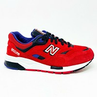 New Balance 1600 Classics Pinball Pack Red Black Suede Abzorb CM1600BD Mens