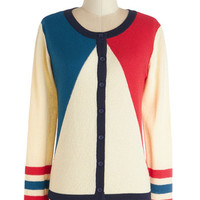 Dear Creatures Nautical Mid-length Long Sleeve Primary Colorful Cardigan