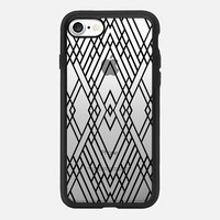 Map Mirror Outline Black iPhone 7 Case by Project M   Casetify