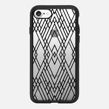 Map Mirror Outline Black iPhone 7 Case by Project M | Casetify