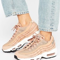 Nike Air Max 95 Essential Trainers In Tan at asos.com